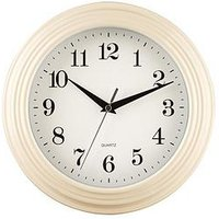 Product photograph showing Premier Housewares Classic Cream Wall Clock