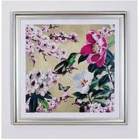 Product photograph showing Arthouse Oriental Blossom Bird Framed Print