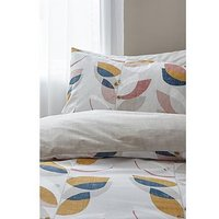 Product photograph showing Catherine Lansfield Bianca Layered Leaf Egyptian Cotton Duvet Set - Db