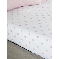 Product photograph showing Catherine Lansfield Catherine Lansfield Polka Dot Fitted Sheet - Db