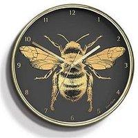 Product photograph showing Jones Clocks Jones Academy Bee Clock Brass