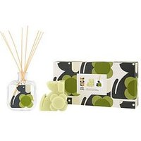 Product photograph showing Orla Kiely House Moulded Candle Diffuser Gift Set
