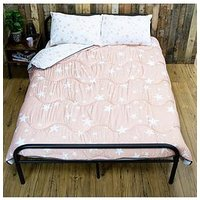 Product photograph showing Rest Easy Sleep Better Pink Star Coverless Quilt 10 5 Tog