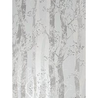 Product photograph showing Sublime Dappled Trees Grey Silver Wallpaper