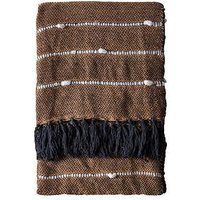 Product photograph showing Gallery Lari Throw - Camel Black