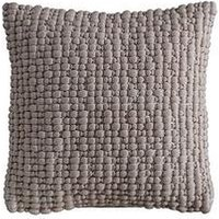 Product photograph showing Gallery Textured Bobble Cushion - Natural