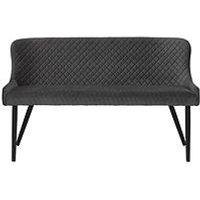 Product photograph showing Julian Bowen Luxe High Back Bench - Grey
