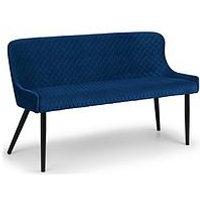 Product photograph showing Julian Bowen Luxe High Back Bench - Blue