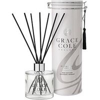 Product photograph showing Grace Cole Signature White Nectarine Pear Reed Diffuser