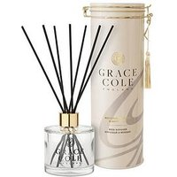 Product photograph showing Grace Cole Signature Nectarine Blossom Grapefruit Reed Diffuser