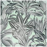 Product photograph showing Arthouse Greenhouse Plants Mint Wallpaper