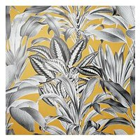 Product photograph showing Arthouse Greenhouse Plants Ochre Wallpaper