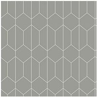Product photograph showing Arthouse Linear Geo Grey Wallpaper