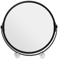 Product photograph showing Premier Housewares Black Metal Magnifying Shaving Mirror