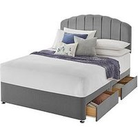 Product photograph showing Silentnight Fabric Divan Bed With Storage Options Base Only Ndash Headboard Not Included - Small Double