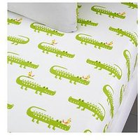 Product photograph showing Cosatto Crocodile Smiles Fitted Sheet Twin Pack