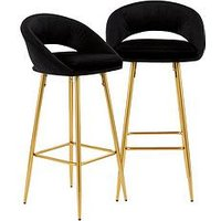 Product photograph showing Set Of 2 Mono Open Back Barstools