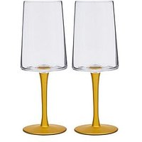 Product photograph showing Spode Creatures Of Curiosity Set Of 2 Wine Glasses