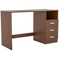 Product photograph showing Vida Designs Filey Computer Desk - Walnut Effect