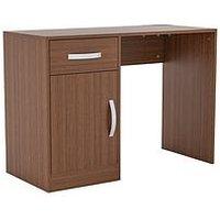 Product photograph showing Vida Designs Hudson Computer Desk - Walnut