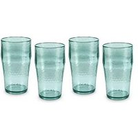 Product photograph showing Tower Fresco Set Of 4 Acrylic Beer Glasses