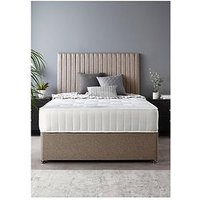 Product photograph showing Catherine Lansfield Soho Divan Set With Ortho Pocket Mattress Super King