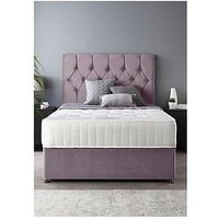 Product photograph showing Catherine Lansfield Boutique Divan Set With Ortho Pocket Mattress Double