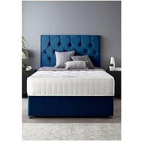 Product photograph showing Catherine Lansfield Boutique Divan Set With Ortho Pocket Mattress Single