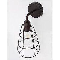 Product photograph showing Cage Wall Light