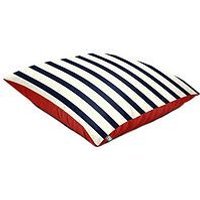 Product photograph showing Rucomfy Nautical Striped Floor Cushion