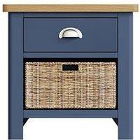 Product photograph showing K-interiors Fontana 1 Drawer 1 Basket Sideboard - Blue