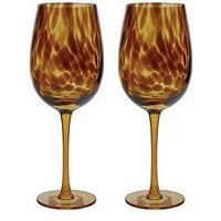 Product photograph showing Barcraft Tortoise Shell Set Of 2 Balloon Glasses