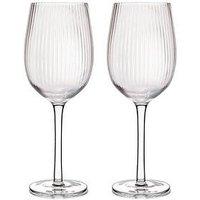 Product photograph showing Barcraft Ridged Set Of 2 Wine Glasses