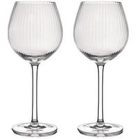 Product photograph showing Barcraft Ridged Set Of 2 Balloon Glasses