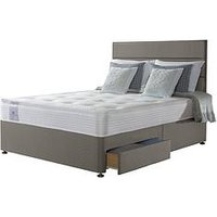 Product photograph showing Sealy Activ Renew Ortho Posture Tech Double Divan Bed With Storage Options - Extra Firm