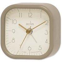 Product photograph showing Acctim Clocks Zak Ii Taupe Alarm Clock
