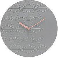 Product photograph showing Acctim Clocks Acctim Clocks Chloe Smoke Grey Wall Clock