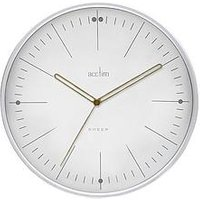 Product photograph showing Acctim Clocks Solna White Wall Clock
