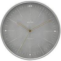 Product photograph showing Acctim Clocks Acctim Clocks Solna Smoke Grey Wall Clock