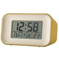 Product photograph showing Acctim Clocks Alta Mustard Alarm Clock