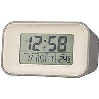 Product photograph showing Acctim Clocks Alta Owl Grey Alarm Clock