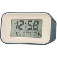 Product photograph showing Acctim Clocks Acctim Clocks Alta Storm Blue Alarm Clock