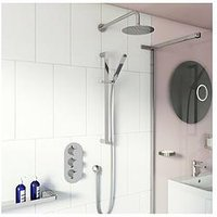 Product photograph showing Victoria Plum Round Concealed Triple Valve Shower Set