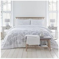 Product photograph showing Drift Home Textured Leaf Duvet Cover Set