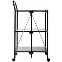 Product photograph showing Premier Housewares Folding Kitchen Trolley With 3 Shelves