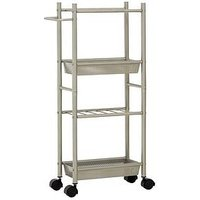 Product photograph showing Premier Housewares 4 Tier Kitchen Trolley With Basket With 2 Baskets