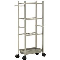 Product photograph showing Premier Housewares 4 Tier Kitchen Trolley With Basket With 1 Basket