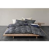 Product photograph showing Himeya Stitch Fields Sustainable Duvet Cover