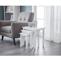 Product photograph showing Julian Bowen Cleo Nest Of Tables - Pure White Finish