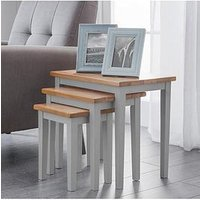 Product photograph showing Julian Bowen Cleo Nest Of Tables 2 Tone Grey Oak